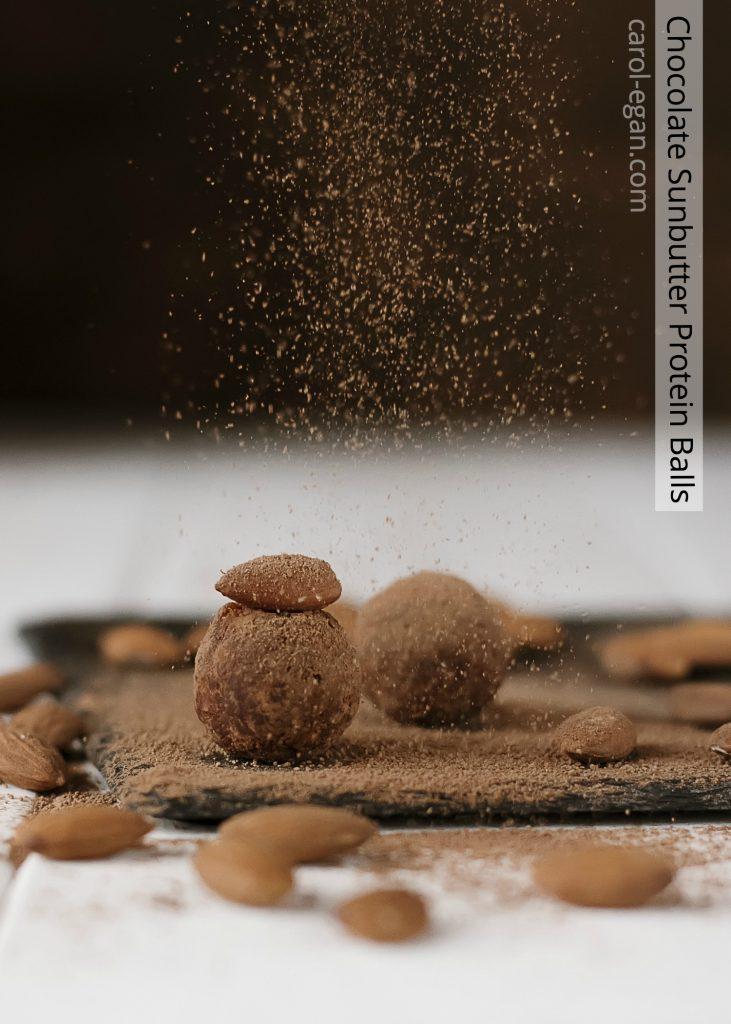 Chocolate Sunbutter Protein Balls